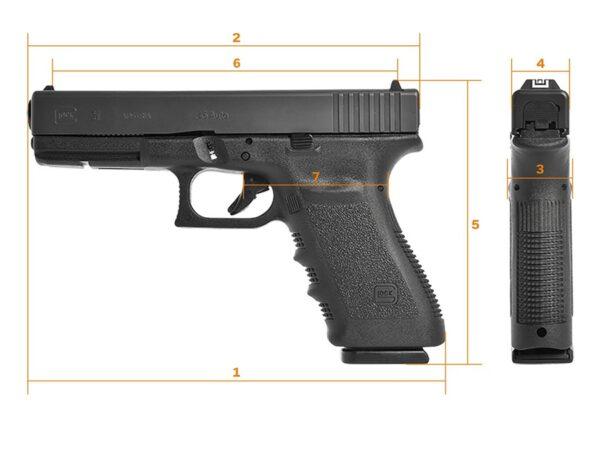 Glock 21SF (Short Frame) Gen 3